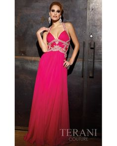 CheapLong Flowing Formal Gown by Terani T843