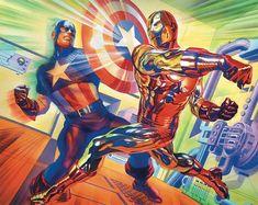 Marvel Comics Art, Marvel Heroes, Marvel Characters, Marvel Avengers, Iron Man Art, Cartoon As Anime, Comic Book Collection, Iron Man Tony Stark, Alex Ross