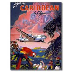 Review Fly To Caribbean Vintage Postcard online after you search a lot for where to buy