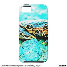 Crab With Teal Background iPhone 5 Cover