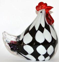 coq et poule bleu et rouge en verre de murano p que pinterest verre de murano coq et poule. Black Bedroom Furniture Sets. Home Design Ideas