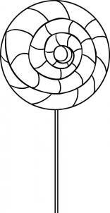 Free Printable Extra Large Swirly Lollipop Stencil