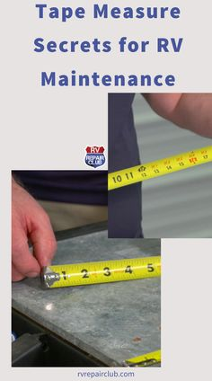 In this free video lesson, RV maintenance expert Dave Solberg teaches you some tape measure secrets that you can use to maximize this handy tool when working on your RV. Click to watch more about RV Maintenance. Travel Trailer Camping, Rv Travel, Rv Camping, Camping Hacks, Rv Organization, Rv Makeover, Bus Life, Rv Interior, Learn A New Skill