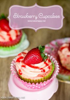 It's not hard to be addicted to these Easy Strawberry Cupcakes. They're moist, fluffy and bursting with strawberry in every bite.
