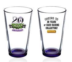 Cheers to 20 Years of Hair-Raising Collecting. Hair Raising, 20th Anniversary, Pint Glass, Collection, 20th Birthday, Beer Glassware, 20 Year Anniversary