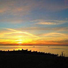 Whitstable Beach, sunset
