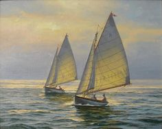Beautiful sailing painting.  QuidleyandCo. Nantucket