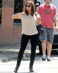 Look Who's enjoying a day off! Jenna Coleman looked chic yet relaxed when she was spotted ...