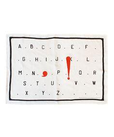 L'Alphabet Tea Towel X Marcel Broodthaers