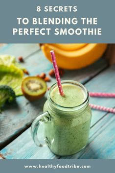 Get inspired by these 8 secrets to blending the perfect smoothie. Nutrition, flavors and texture, make sure you get it right! #smoothie #blending #perfectsmoothie #blendingtips Nutritious Smoothies, Easy Smoothie Recipes, Easy Smoothies, Nutrition Tips, Healthy Nutrition, Health Tips, Healthy Food, Raw Food Recipes, Diet Recipes