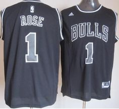 Chicago Bulls 1 Derrick Rose Black White Fashion Revolution 30 Swingman NBA Jerseys