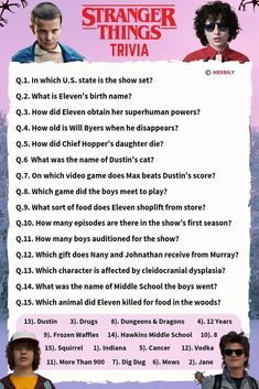 Stranger Things Trivia Questions & Answers