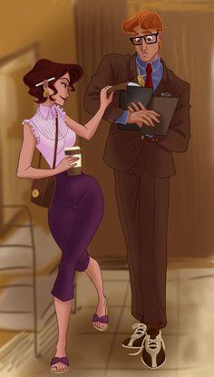 Hercules as Clark Kent & Megara as Lois Lane. Disney crossover (Superman)