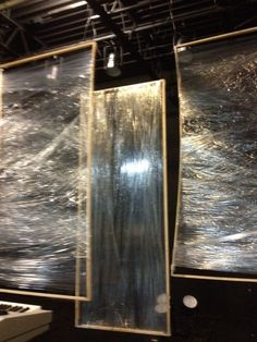 looks like plastic wrap around frames.  would catch light in interesting ways noid-IMG_0135