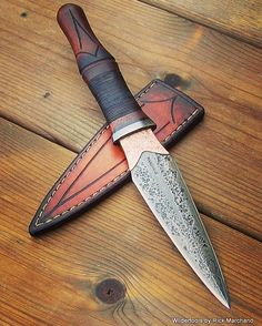 "371 Likes, 12 Comments - Wildertools by Rick Marchand (@wildertools) on Instagram: ""The Rose Dagger. This one went into a famous rockstar's private collection. Very cool. #dagger…"""