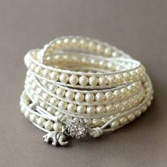 Pearl Bracelet ~~ Love these wraps!