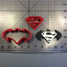 Batman Superman Cookie Cutter Set