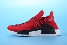 """134bc0338e4 Pharrell Williams X adidas NMD HUMAN RACE""""Bright red"""" S79161 Mens Size EUR39"""