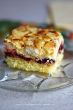 Ingredients: * for sponge cake - 4 eggs - wheat flour - potato flour - 1 tablespoon lukewarm water - 1 teaspoon baking powder . Sweet Desserts, Sweet Recipes, Delicious Desserts, Baking Recipes, Cake Recipes, Dessert Recipes, Polish Desserts, Sweet Cakes, How Sweet Eats