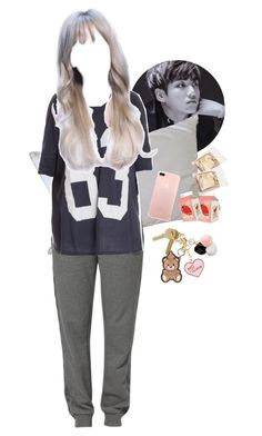 """""""— """" the next one's free """""""" by han-i ❤ liked on Polyvore featuring Moschino, Natural Comfort, Hummel, Wildfox, Maison Margiela and GUESS"""