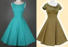 Vestido evasê com recorte 1960's