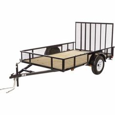 Carry-On Trailer Wood Floor High Sided Utility Trailer, 6 ft. x 10 ft., 2,990 GVWR