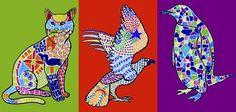 I disegni di animali che puoi trovare qui, questa volta sono stati decorati e interpretati con la tecnica del mosaico. Dopo aver osservato le decorazioni degli edifici di Antoni Gaudì, e in partic…