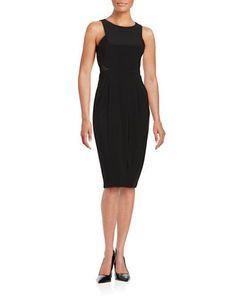 Xscape Mesh Bodycon Dress Women's Black 10