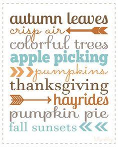 Free Fall Printable via LillyAshley