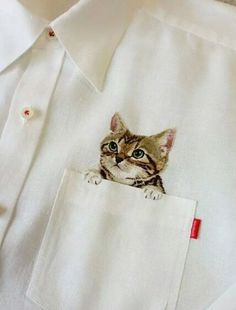 How clever is this embroidery!