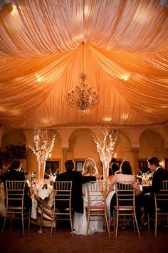 tent draping #reception #wedding