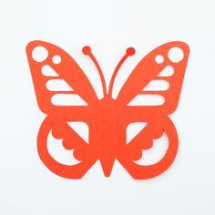Papercut butterfly // free template