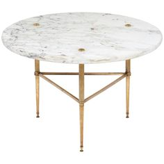 Vintage Marble-Top Occasional Table