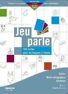 «Jeu Parle» contient 180 cartes solides et de grand format, utilisable pour les activités de langage et de langues vivantes. Le guide pédagogique propose plus de 30 activités et jeux. Il est accompagné d'un logiciel qui associe cartes et fichiers audio (français, anglais, allemand, espagnol).