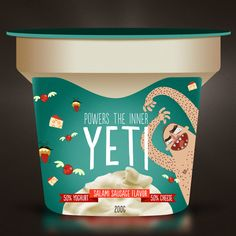 YETI YOGHURT by Morkwork , via Behance