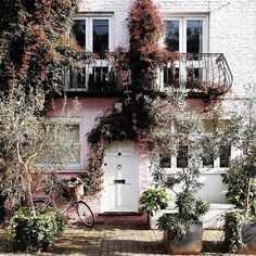 mews house in notting hill Mews House, Christmas Wreaths, Christmas Tree, Photo And Video, Flowers London, Holiday Decor, Notting Hill, Exterior Design, Beautiful