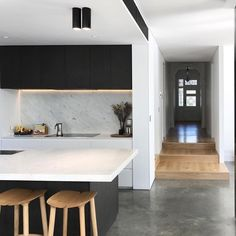 Here are the Black White Wood Kitchens Design Ideas. This post about Black White Wood Kitchens Design Ideas was posted under the Kitchen category by our team at May 2019 at pm. Hope you enjoy it and don't . White Wood Kitchens, White Kitchen Decor, Cool Kitchens, Kitchen Black, Interior Desing, Home Interior, Interior Design Kitchen, Interior Modern, Kitchen Living
