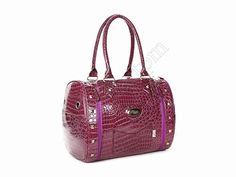 Purple Crocodile veins Leather Dog Carriers Bag Pet Tote Purse Puppy Handbag Cat Cage Doggy Pouch - http://leather-handbags-shop.com/purple-crocodile-veins-leather-dog-carriers-bag-pet-tote-purse-puppy-handbag-cat-cage-doggy-pouch/