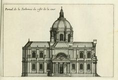 Side elevation of the Chapel of the Sorbonne, Paris