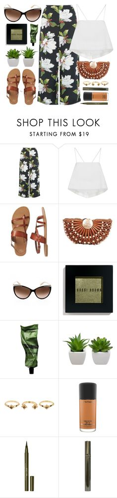 """""""Vacation"""" by smartbuyglasses-uk ❤ liked on Polyvore featuring Warehouse, A.L.C., Gap, Ralph by Ralph Lauren, Bobbi Brown Cosmetics, Aesop, House of Harlow 1960, MAC Cosmetics, Stila and GREEN"""