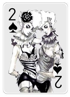Fashion Playing Cards Part 2 on Illustration Served