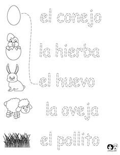 FREE ~ Spanish Worksheets for Kids ~ Spring Printout Spanish ~ Spanish Activities for Children ~ FREE #Spanish
