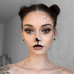 Reindeer Face Paint, Reindeer Makeup, Face Paint Makeup, Eye Makeup, White Face Makeup, Crazy Makeup, Makeup Looks, Christmas Face Painting, Christmas Face Paint Ideas