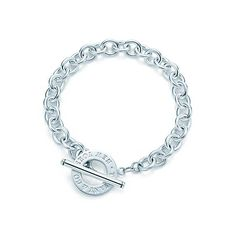 Simple, classic, elegant - Tiffany & Co. Toggle bracelet in sterling silver.