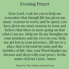 Amen ❣ Evening prayer Prayer Scriptures, Bible Prayers, Faith Prayer, My Prayer, Prayer Board, Bible Teachings, Catholic Prayers, Bible Verses, Spiritual Prayers