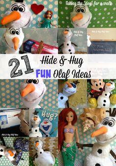 Olaf Hide & Hug Ideas- 21Ideas To Try