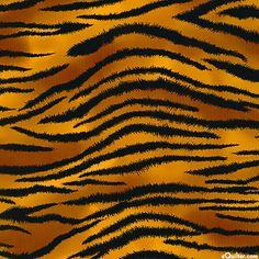Fuzzy Tiger Stripe - Caramel