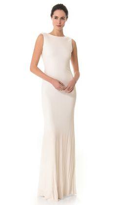 elopement dress--Badgley Mischka Collection Cowl Back Gown