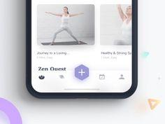 Yoga App Menu Concept tab bar menu ios mobile ui ux animation app gif interaction yoga fitness work out meditation Dashboard Design, Ui Ux Design, Game Design, Layout Design, Logo Design, User Interface Design, Web Layout, Graphic Design, Flat Design
