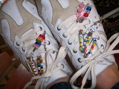 Friendship pins, we actually did this?  lol  I remember girls with tons of these on their shoes.